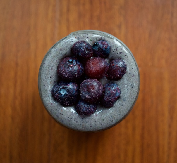 Dancing for Donuts | Blueberry Power Smoothie.